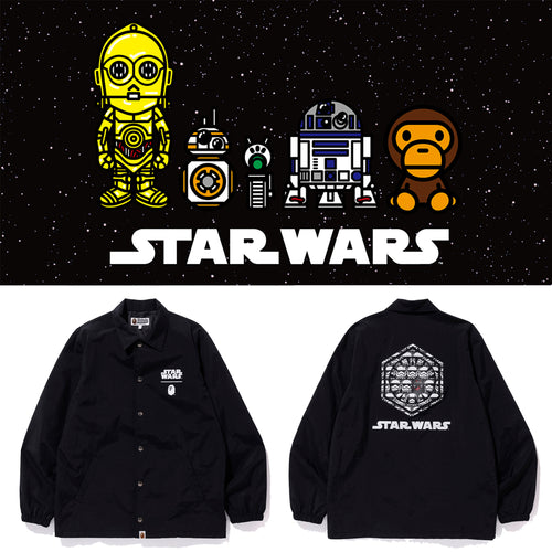 A BATHING APE STAR WARS x BAPE FIRST ORDER COACH JACKET - happyjagabee store