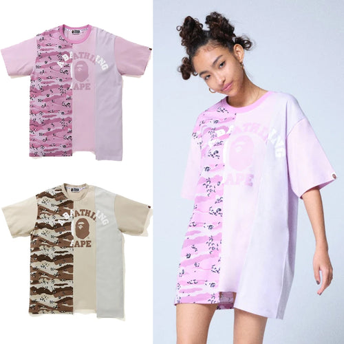 A BATHING APE Ladies' DESERT CAMO PANEL TEE ONEPIECE