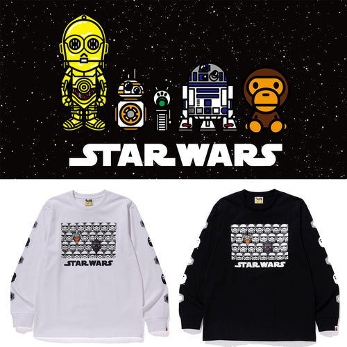 A BATHING APE STAR WARS x BAPE FIRST ORDER LONG SLEEVE TEE #1 - happyjagabee store
