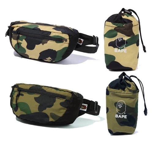 A BATHING APE 1ST CAMO PACKABLE WAIST BACK