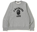 A BATHING APE COLLEGE CREWNECK - happyjagabee store