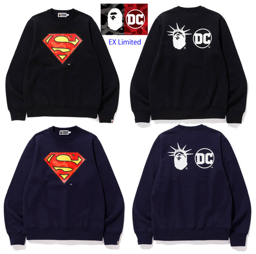 A BATHING APE BAPE × DC MADISON AVENUE SUPERMAN CREWNECK