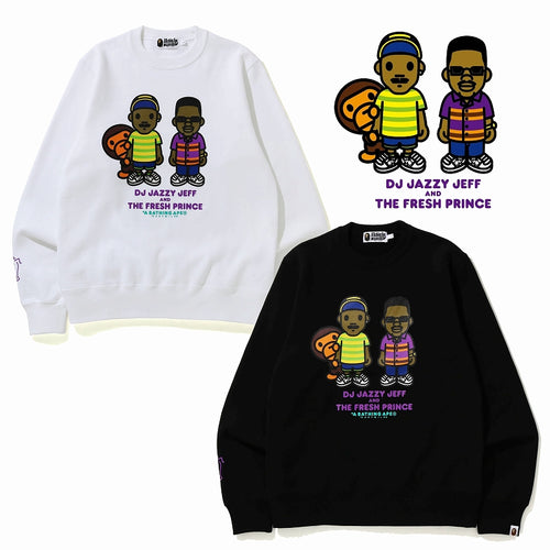 A BATHING APE x THE FRESH PRINCE & DJ JAZZY JEFF BABY MILO CREW NECK