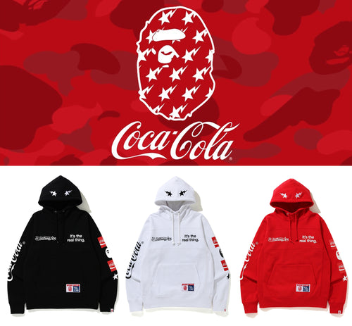 A BATHING APE BAPE × COCA-COLA PULLOVER HOODIE