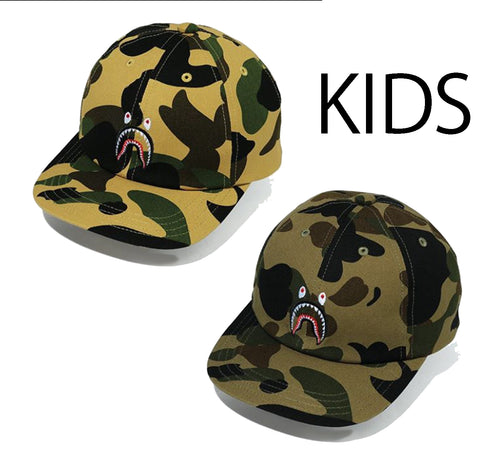 A BATHING APE BAPE KIDS 1ST CAMO SHARK PANEL CAP