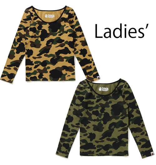 A BATHING APE Ladies' 1ST CAMO L/S TEE