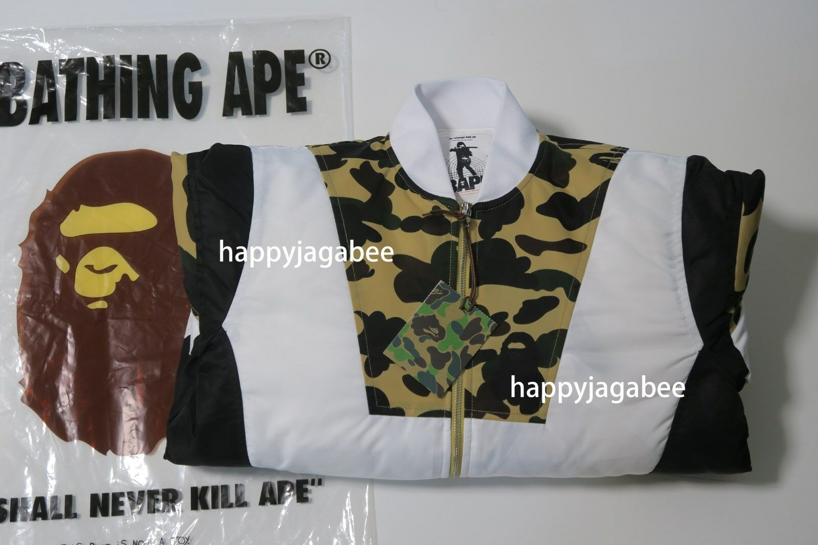 fdb28ea5590a8 ... A BATHING APE 1ST CAMO COLOR BLOCK PADDED JACKET - happyjagabee store  ...