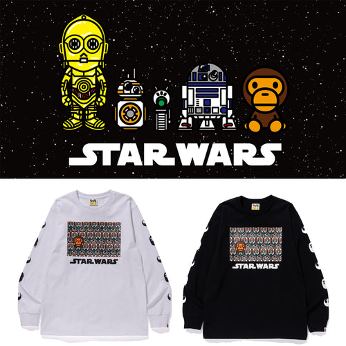 A BATHING APE STAR WARS x BAPE REPUBLIC LONG SLEEVE TEE #2 - happyjagabee store