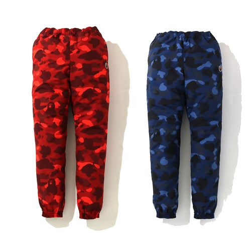 A BATHING APE LADIES' COLOR CAMO TRACK PANTS - happyjagabee store