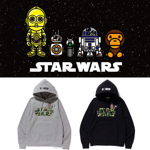 A BATHING APE STAR WARS x BAPE BB-8 & D-O PULLOVER HOODIE - happyjagabee store