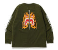 A BATHING APE RELAXED TIGER L/S TEE