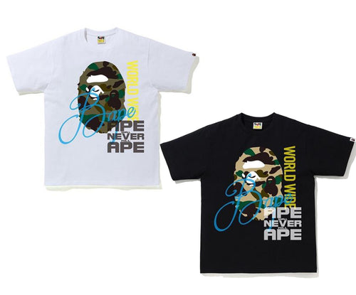 A BATHING APE OVER PRINT TEE