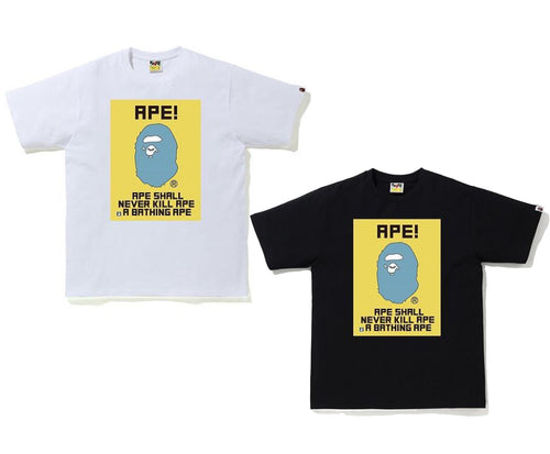 A BATHING APE WATER PRINT TEE