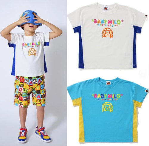 A BATHING APE KIDS BABY MILO LOOSE FIT TEE