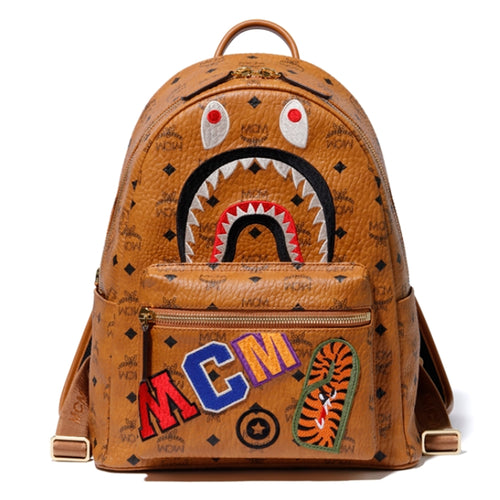 A BATHING APE MCM x BAPE SHARK STARK BACKPACK - happyjagabee store