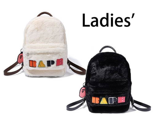 A BATHING APE LADIES' BAPE APPLIQUE BOA DAYBAG