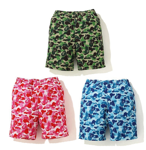 A BATHING APE ABC CAMO BEACH SHORTS