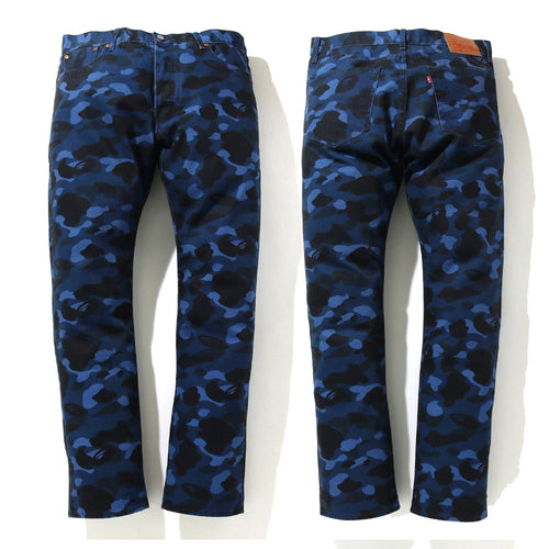 A BATHING APE BAPE x Levi's COLOR CAMO 501 '93 MODEL Navy ASIA LIMITED
