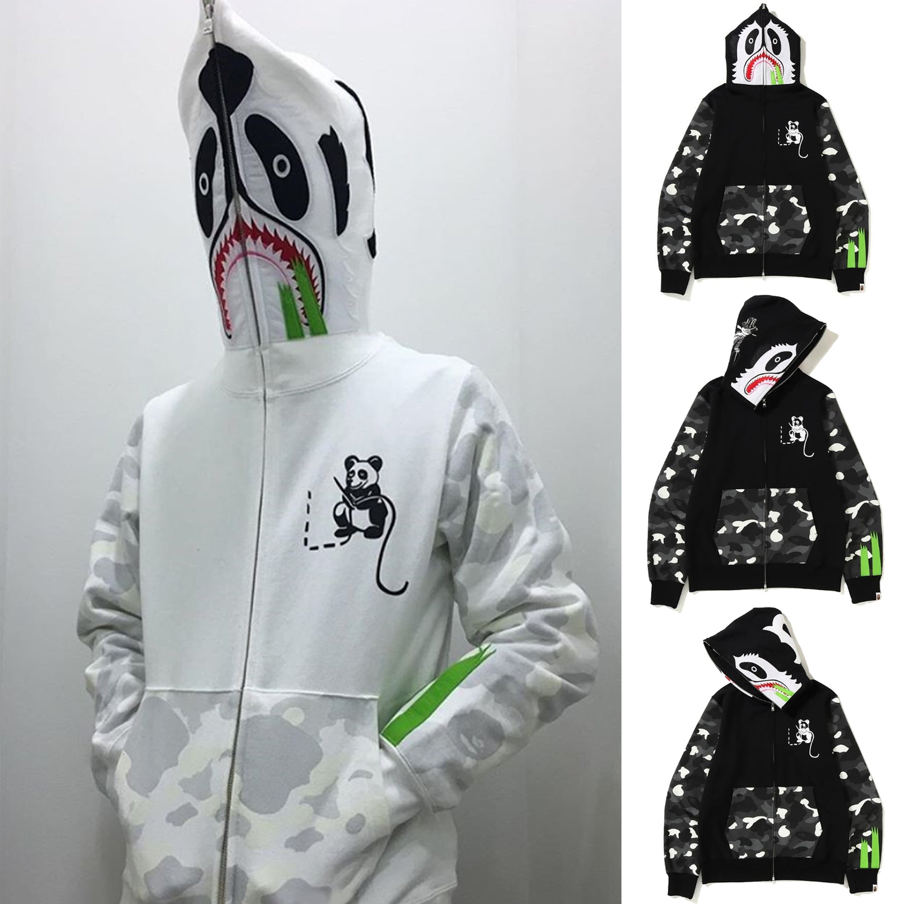dc07713ba296 A BATHING APE CITY CAMO PANDA FULL ZIP HOODIE - happyjagabee store ...