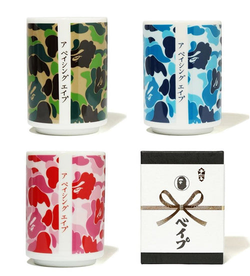 A BATHING APE ABC CAMO JAPANESE TEACUP - happyjagabee store