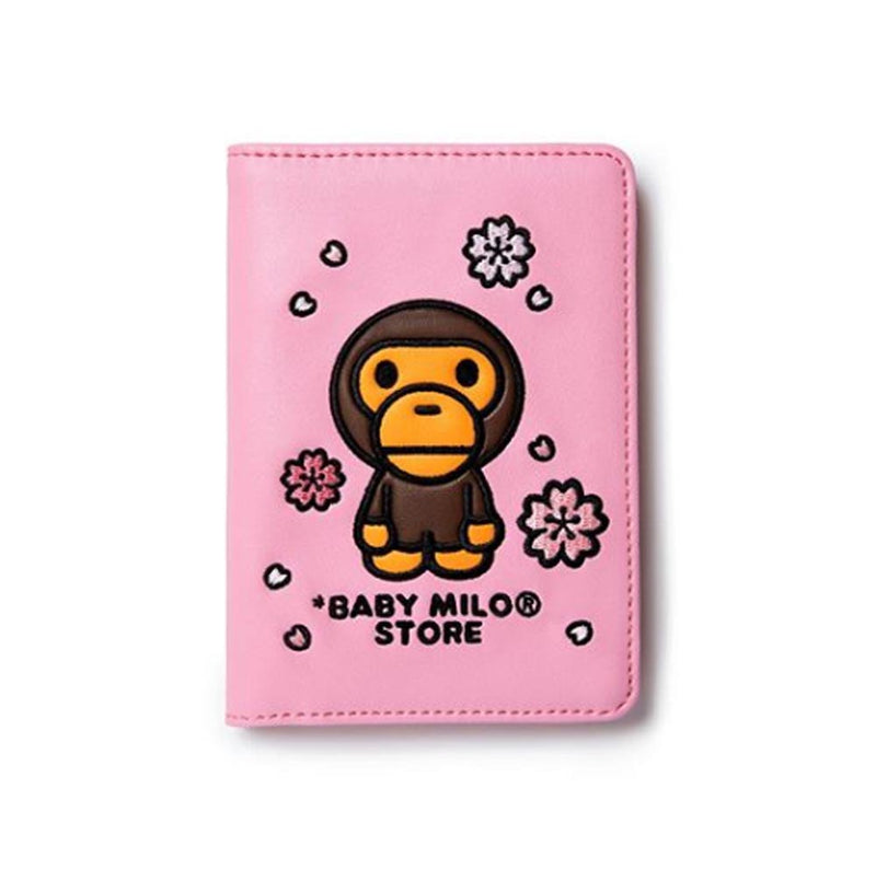 A BATHING APE BABY MILO STORE SAKURA PASSPORT HOLDER - happyjagabee store
