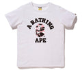 A BATHING APE LADIES' WARM UP CAMO COLLEGE TEE - happyjagabee store