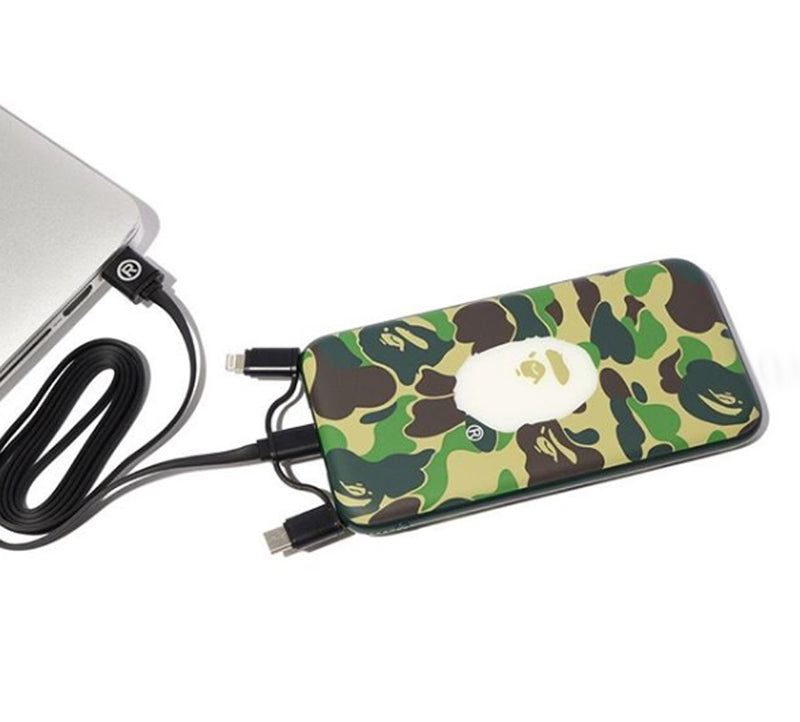 A BATHING APE ABC CAMO POWER BANK - happyjagabee store