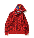A BATHING APE COLOR CAMO SHARK FULL ZIP HOODIE