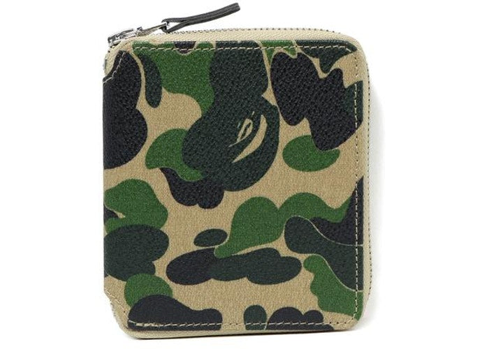 A BATHING APE ABC CAMO CANVAS WALLET M - happyjagabee store
