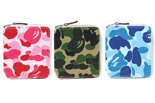 A BATHING APE ABC CAMO CANVAS WALLET M