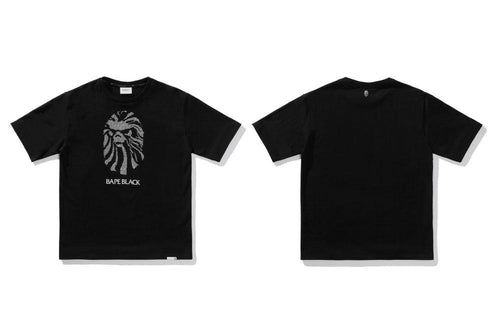 BAPE BLACK CRYSTAL STONE MAD FACE TEE