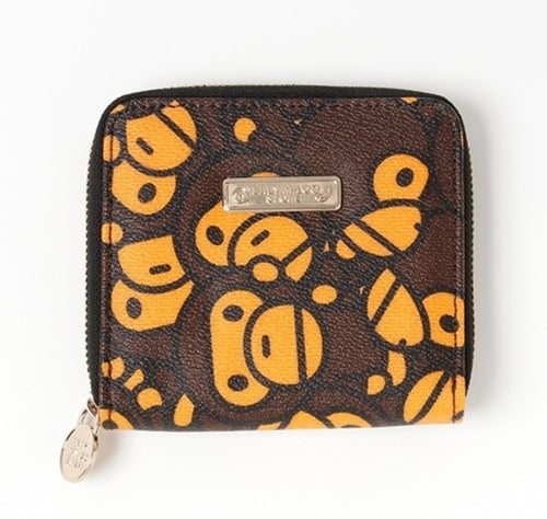 A BATHING APE BABY MILO STORE ALL BABY MILO ZIP WALLET (M)