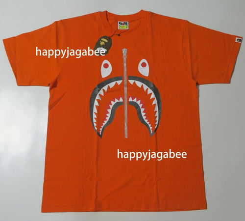 A BATHING APE SHARK TEE Orange