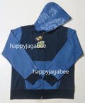 A BATHING APE INDIGO TIGER SHARK FULL ZIP HOODIE