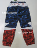 A BATHING APE COLOR CAMO BAPE STA TRACK PANTS