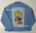 BAPE x DRAGON BALL Z BABY MILO BIG APE HEAD DENIM JACKET