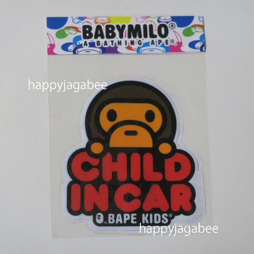 A BATHING APE BAPE KIDS BABY MILO CHILD IN CAR STICKER