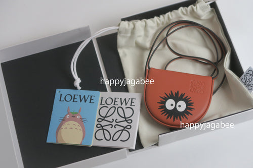 LOEWE x Studio Ghibli Japanese Animation Totoro Dust Bunnies Mini Heel Pouch