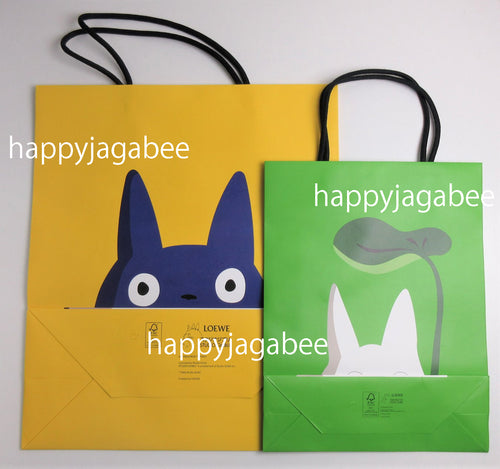 LOEWE x Studio Ghibli Japanese Animation Totoro Collaboration Shopping Bag GN + YW
