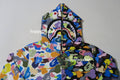 A BATHING APE MULTI CAMO HALF SHARK FULL ZIP HOODIE - happyjagabee store