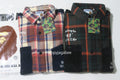 A BATHING APE BAPE CHECK FLANNEL SHIRT