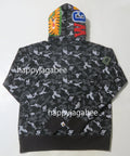 A BATHING APE DIGITAL CAMO SHARK WIDE PULLOVER HOODIE