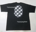 A BATHING APE STA PATTERN BIG APE HEAD RELAXED TEE