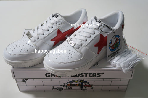 A BATHING APE x GHOSTBUSTERS BABY MILO BAPE STA LOW Red / White - happyjagabee store