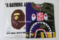 A BATHING APE Ladies' CRAZY SHARK OVERSIZED TEE