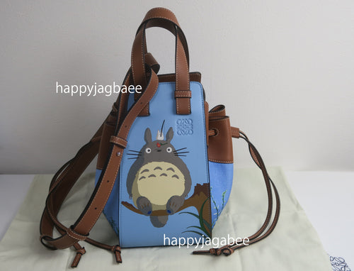 LOEWE Studio Ghibli Japanese Animation Totoro Hammock Drawstring bag Small