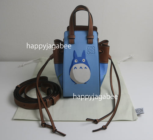 LOEWE Studio Ghibli Japanese Animation Totoro mini Hammock Drawstring bag