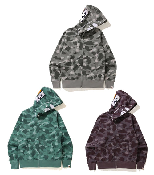 A BATHING APE COLOR CAMO 2ND APE FULL ZIP HOODIE