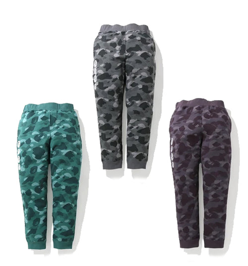 A BATHING APE COLOR CAMO SWEAT PANTS