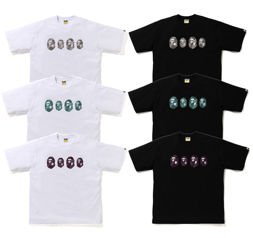 A BATHING APE COLOR CAMO APE HEAD RELAXED TEE